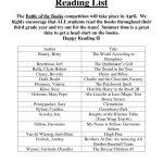 thumbnail of 3rd Grade Summer Reading List