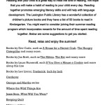 thumbnail of Kindergarten Summer Reading List 2017